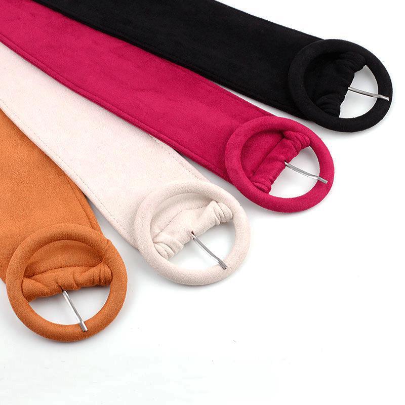 Fashion Women Girl Skinny Waist Belt Thin Leather Waistband Steel Pin Buckle Hdd