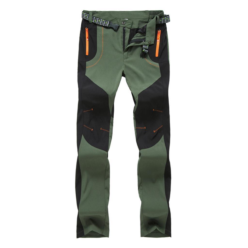 Men/'s Casual Pantalon Cargo Multi Poche-Straight Camping Pantalon de randonnée camo D