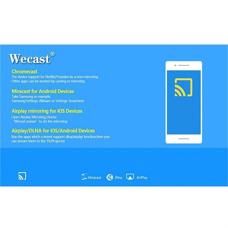 WECAST TV Stick espejado 1080p HDMI WIFI Miracast Airplay DLNA TV ...