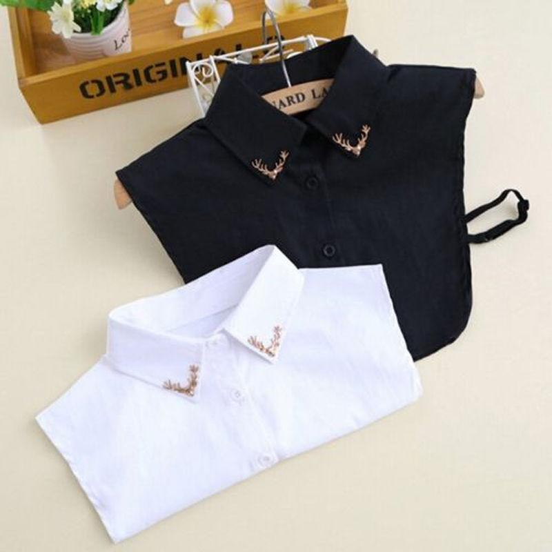 Women Detachable Lapel Choker Necklace Shirt Fake False Collar Shirt Accessories