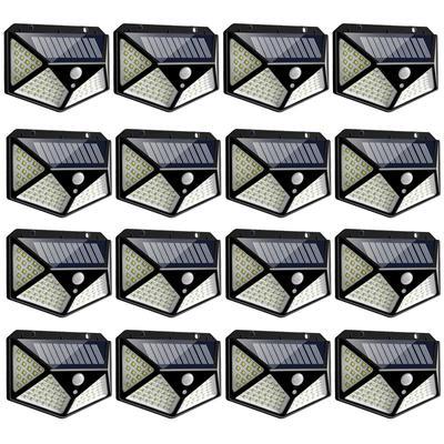 100 Led Solar Light Security Outdoor Solar Wall Lamp PIR Motion Sensor Lamp Waterproof Solar Light For Garden Decoration