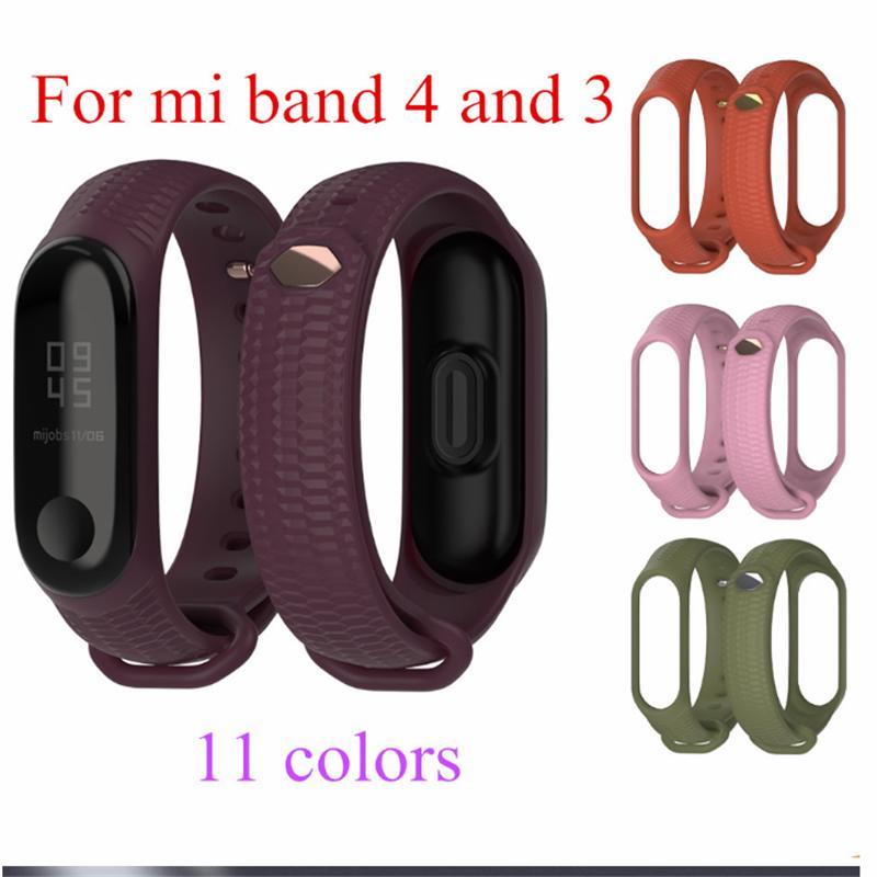 Многоцветный ремешок браслет Замена Smart Sport Часы Запястье для Mi Band 4 3 фото
