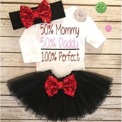 1ec1b9c0b Bebé recién nacido niñas manga larga mameluco Top lentejuelas encaje Tutu  Falda trajes ropa 0-