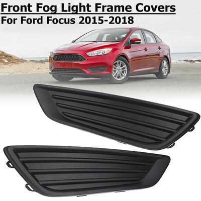 Lamp Kit 4pcs For 2005-2007 Ford Focus Front Bumper Fog Light Cover Grille