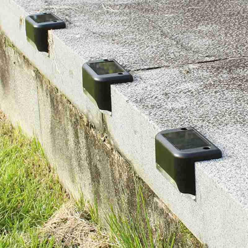 6pcs Solar Power LED Wall Light Outdoor Waterproof Garden Deck Fence Lamp