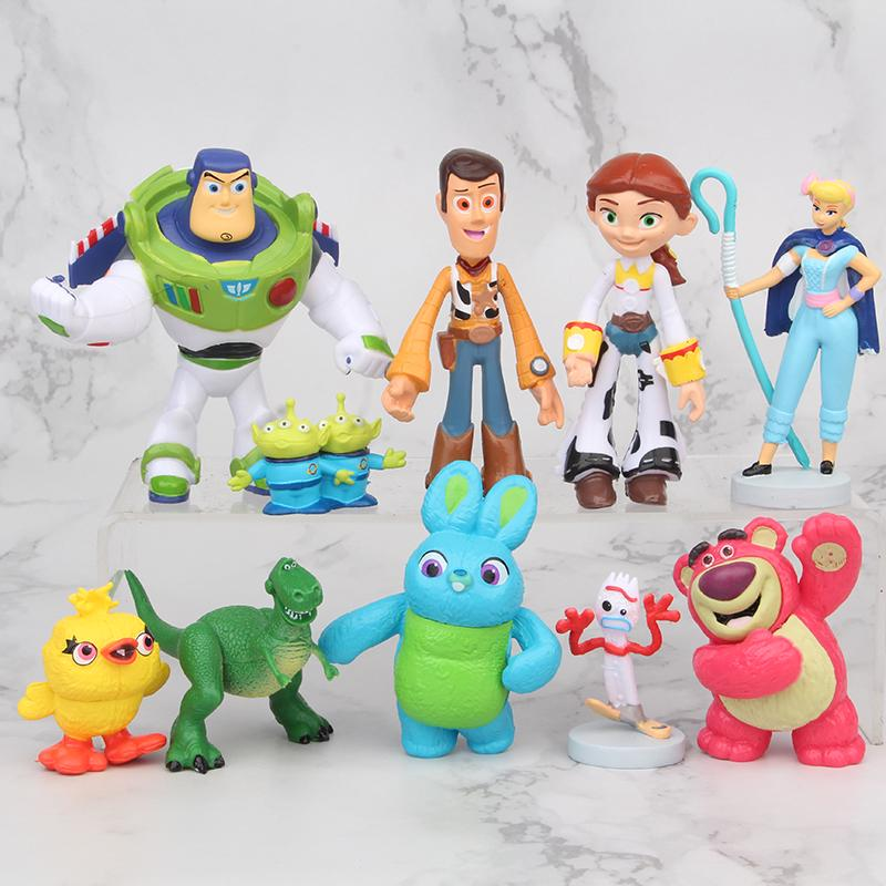 Toy Story 10 pcs Action Figure Set Woody Buzz Lightyear Kids Toy Decor Gift