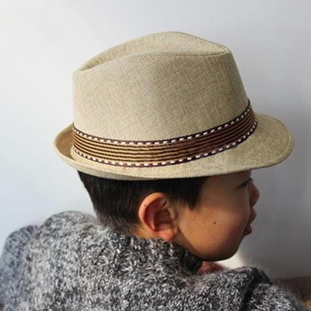 1f2a84f1afe Toddler Kid Baby Girl Boy Fedora Hat Jazz Cap Cotton Photography Trilby Top  Cap-buy at a low prices on Joom e-commerce platform