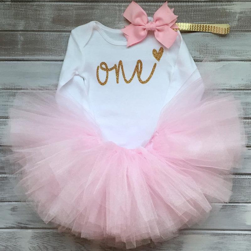 5444311df Niña bebé recién nacido ropa conjuntos Bebes ropa trajes 1er cumpleaños  traje Pelele + Tutu Falda + diadema - comprar a precios bajos en la tienda  en línea ...