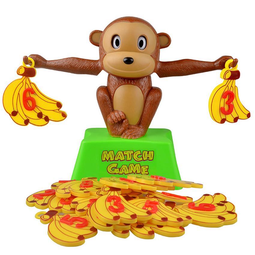 Math Match Game Board Toys Monkey Cat Match Balancing Scale Number Balance Game
