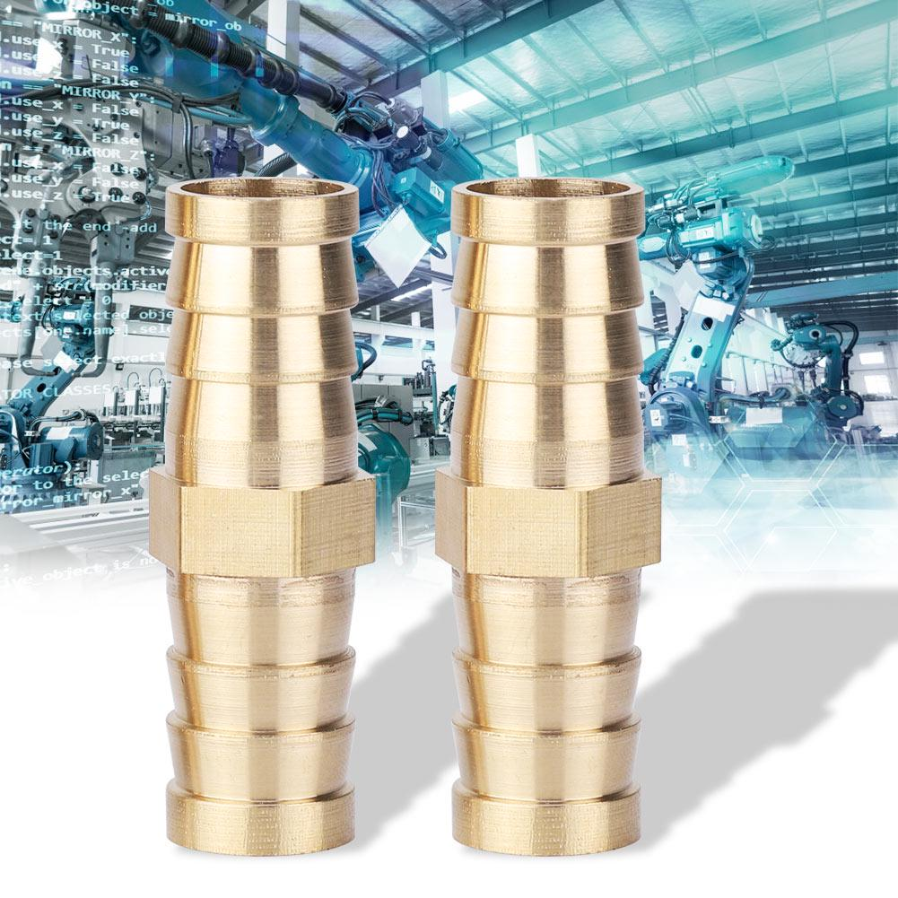 Maxmartt Brass Barbed Reducing Bushing Female Thread Pipe Fitting Connector Adapter 14-25mm