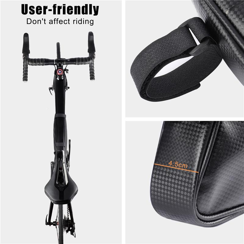 Waterproof Mountain Bike Triangle Bag Cycling Bicycle Frame Front Tube Bag Pouch