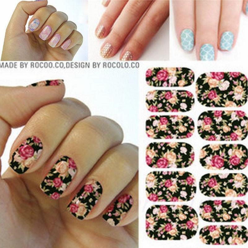 6pcs Harajuku star nail nail art stickers water transfer decals ...