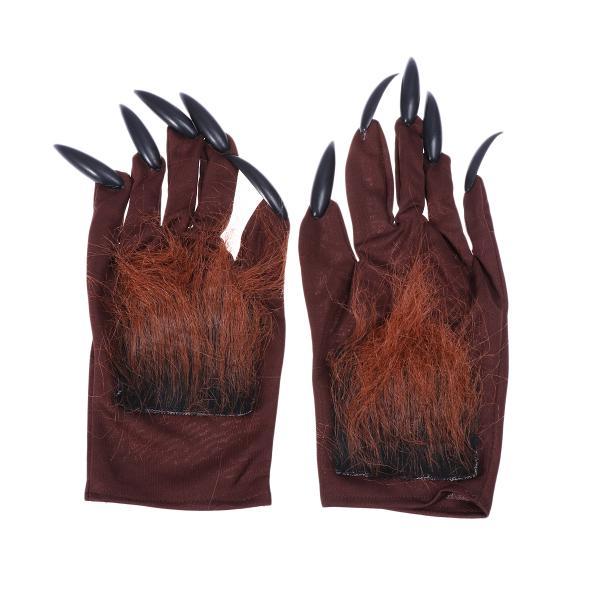 Magic Adults Big Bad Wolf Werewolf Claws Gloves Paws Halloween Fancy Dress Hands