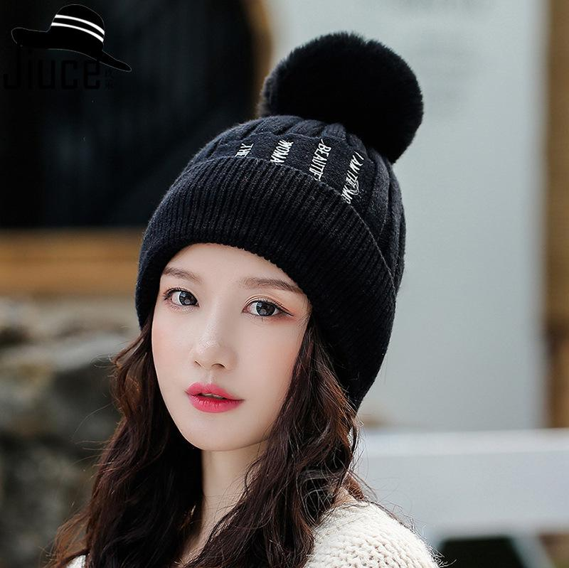 Wool hat beanie Knit wool beanie Unisex Hat Pompon beanie Womens knit hats Winter knit hats Winter fall beanie Knitted winter caps