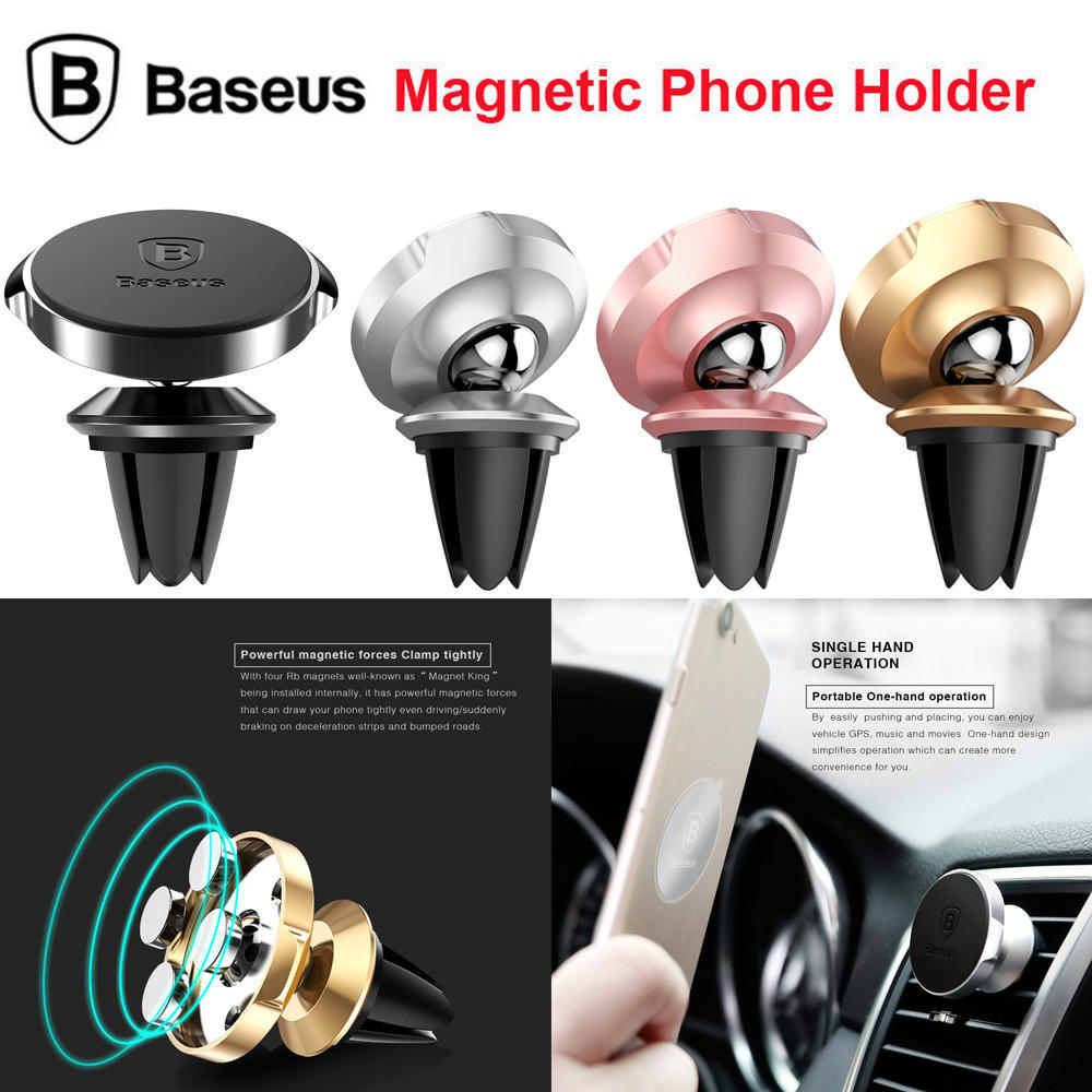 Voiture magnétique téléphone portable support Téléphone Mobile Air Mont  évent prise tourner - faire des achats en ligne à bas prix sur Joom 404cae7c947