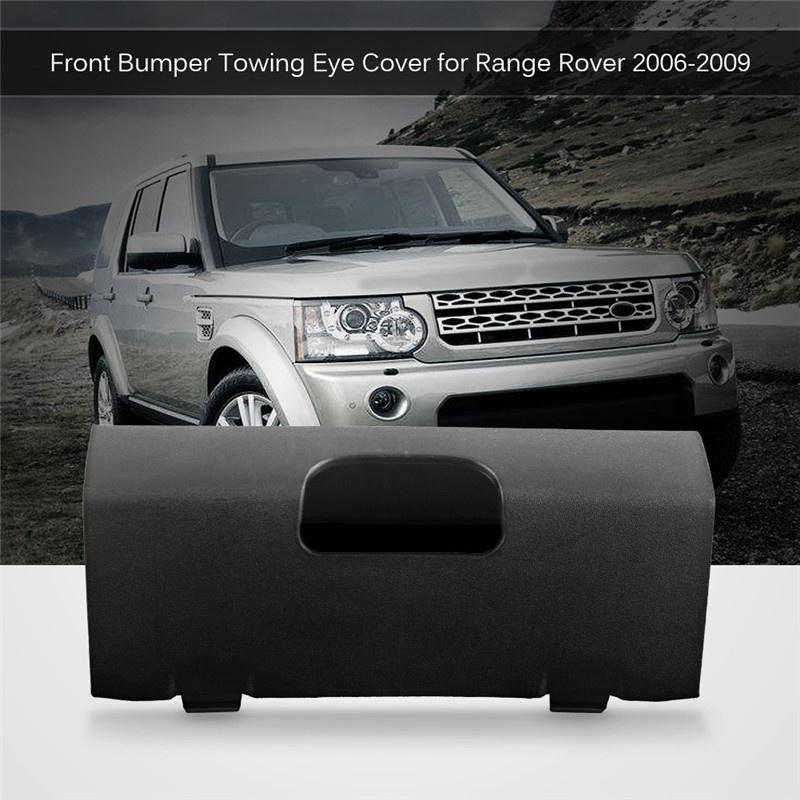 For 2006-2009 Range Rover Front Bumper Spoiler Towing Hook Cover DPC500280PUY