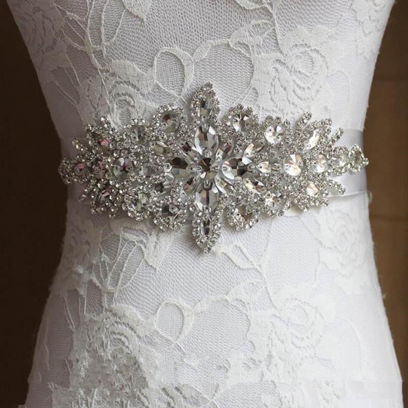 10 Typen Vintage handgefertig Kristall Strass Braut Schärpe Brautkleid Gürtel