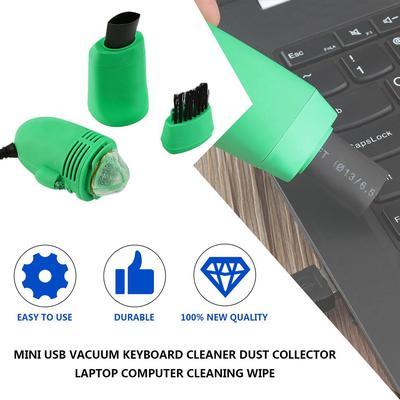 Small Size USB Computer Keyboard Vacuum Cleaner Mini Vacuum Cleaner Mini Cleaner Computer for PC Laptop Desktop Blue