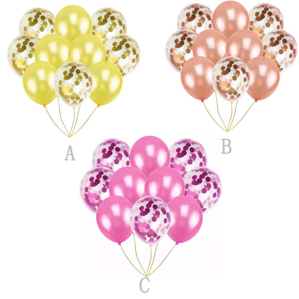 "10X 12/"" Confetti Latex Balloons Wedding Birthday Party Baby  Shower Decorations"
