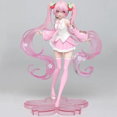 8/'/' Anime Action Figure Collection Model For Hatsune Miku Sakura Toys Kids Gift