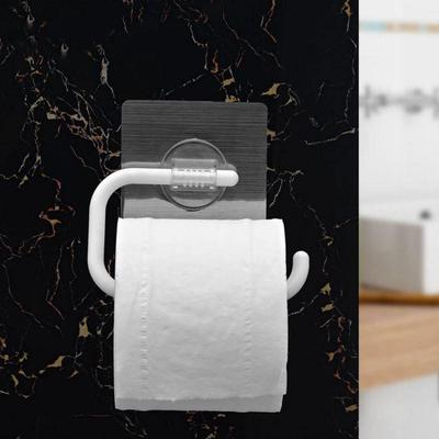 Acero inoxidable baño papel higiénico titular pared monte vacío ventosa  sostenedor de papel higiénico 2d85b2e8d547