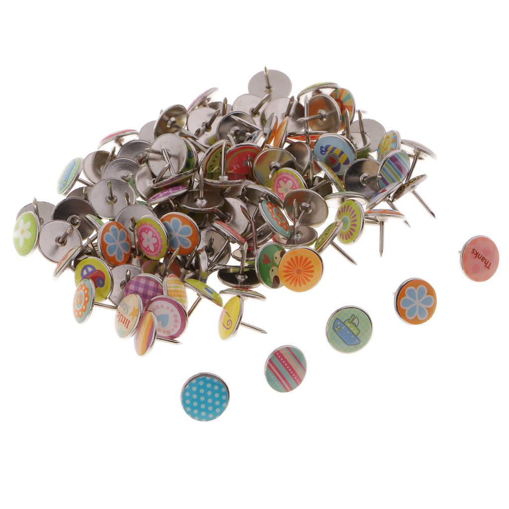 25 Blue Black thumb tacks//push pin Cork Memory Board Office School Decor