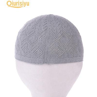 Fashion Men Solid Muslim Turban Hat Chemo Cap Hair Loss Head Scarf Hijabs