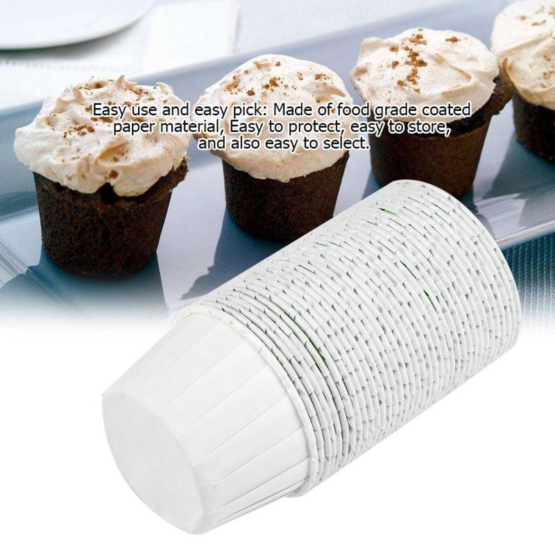 Muffin Cases Cup 100PCS Round Cake Cup Mini Cupcake Liners Paper Round Cake New