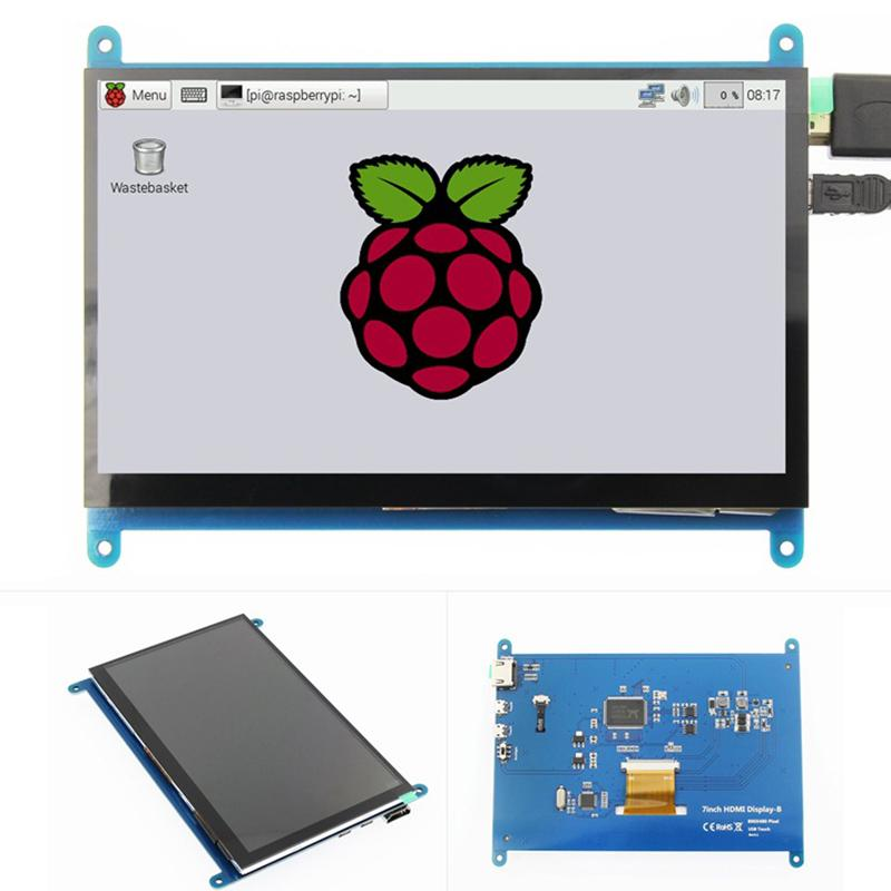 800 LCD 480 for x Pi Display Model IPS Inch Raspberry HD B/2B/B+ 3 7  TouchScreen DF