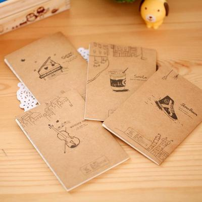 Kraft Cover Journal Diary Note Book Blank Page Stationery Graffiti