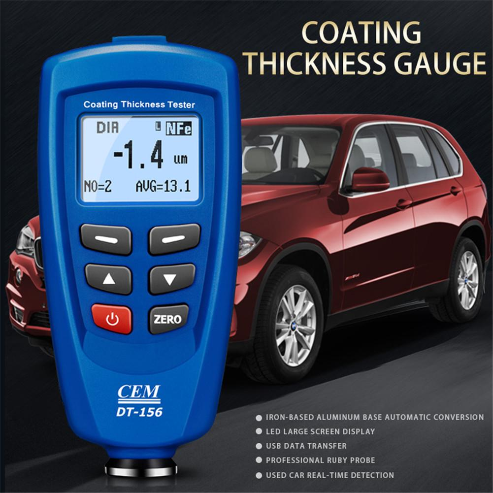 CEM DT-156 Paint Coating Thickness Tester Gauge Auto Meter 0-1250um