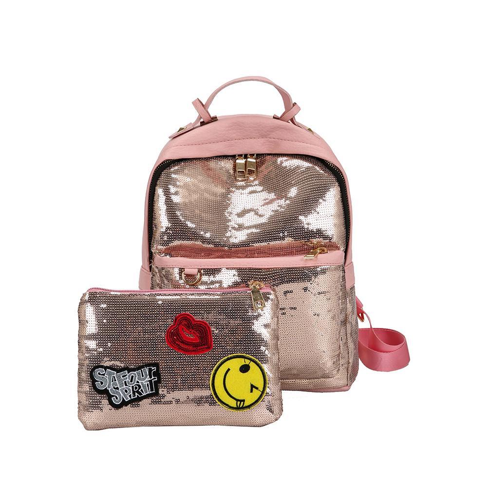 8b03951e4852 Мода Bling блестками сумка сумка школьные рюкзаки для женщин девушек ...