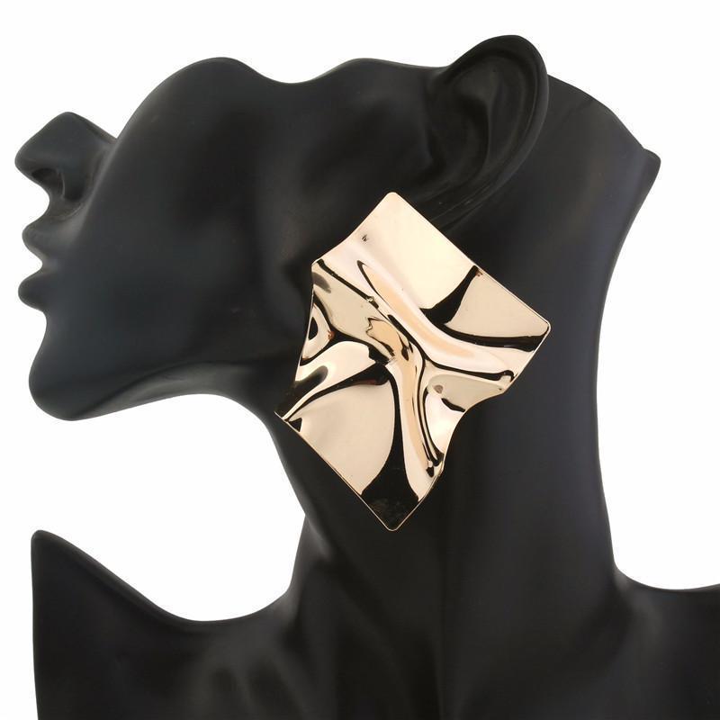 Кисточка шпилька серьги богемного металла плиссированные геометрические открытые женщины старинные ювелирные изделия подарок свадьба фото