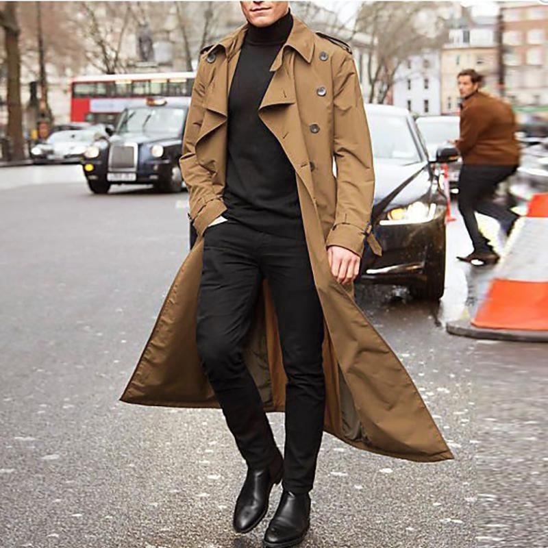 Trendy Street Style Long Sleeve, Fashionable Long Trench Coats