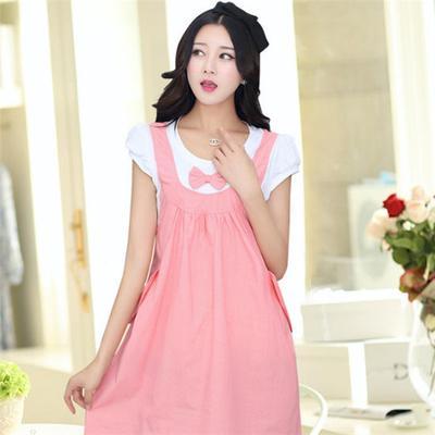 32c401e1d Conjunto verano vestido de maternidad 2 piezas Vestido de embarazo denim  ropa arco ropa para embarazadas
