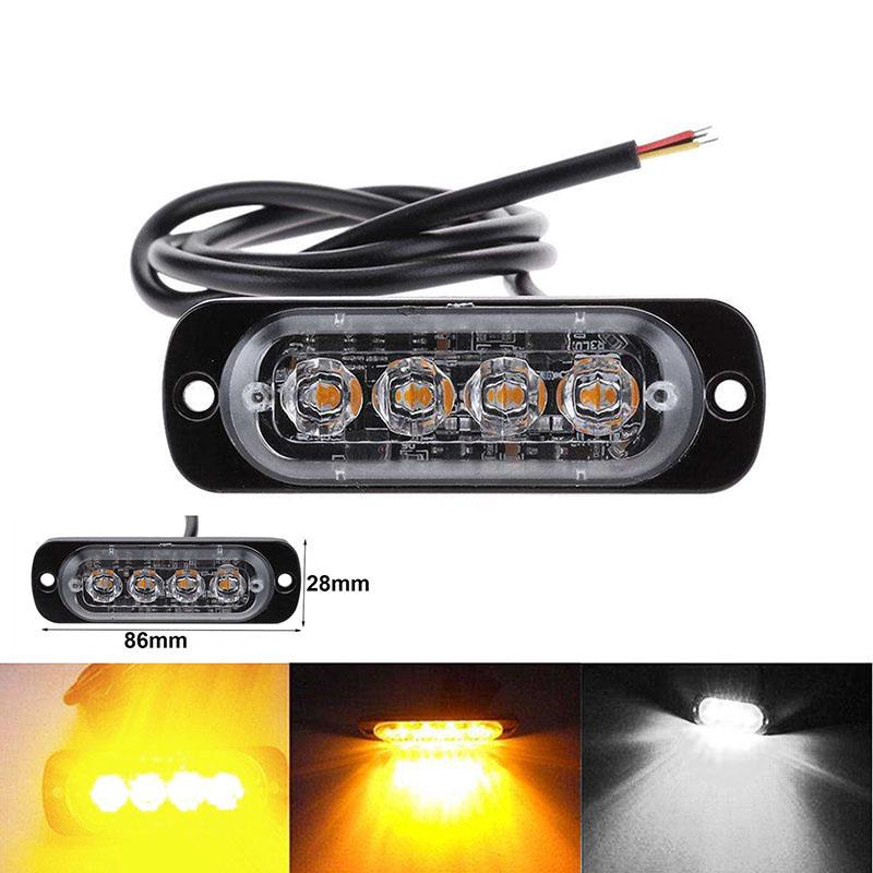 8 LED strobo lampeg RECUPERO LIGHTBAR 12V Ambra Camion Beacon LUCI 12V 24V
