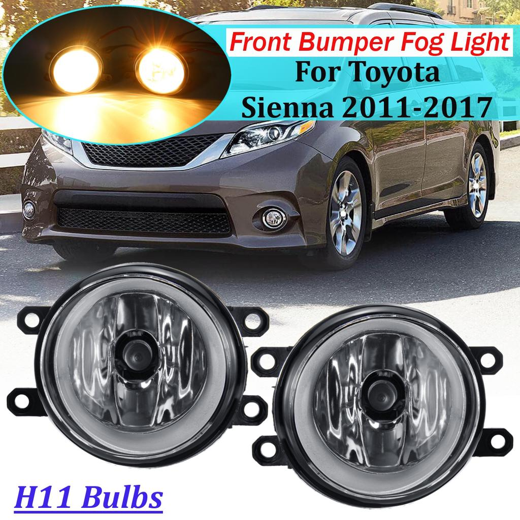 2008 2009 2010 TOYOTA HIGHLANDER LED FRONT LOWER BUMPER FOG LIGHTS+HARNESS PAIR