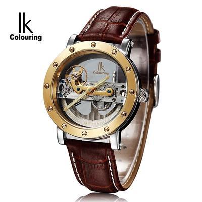 dda26e5f37e Homens de coloração IK Self vento relógios relógios multifunções Business  Top Mens Metal Casual masculino