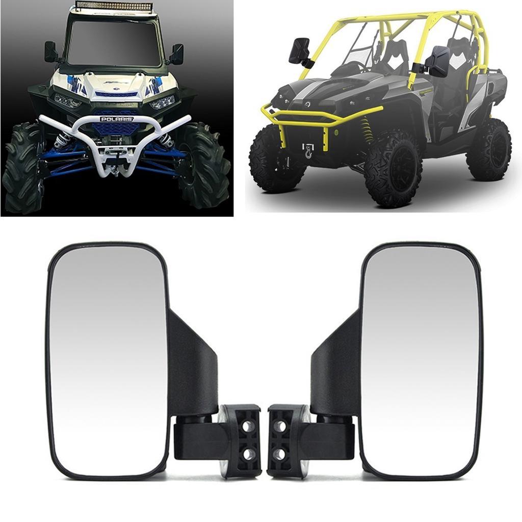 John Deere Gator UTV ABS Break-Away Side Mirror Qty-2 Shatter-Resistant Black