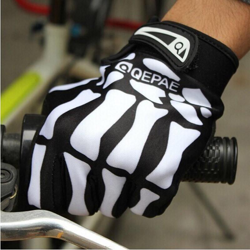 VOANZO Unisex Cool Skull Skeleton Dedo Completo Guantes para Bicicletas Motociclismo Ciclismo Invierno Deportes c/álidos Senderismo Gimnasio Gimnasio Guantes tama/ño M