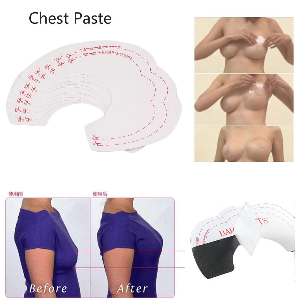 Men Chest Muscle Self-Adhesive Silicone Pad Stickers Chest Muscle Stickers Reuse