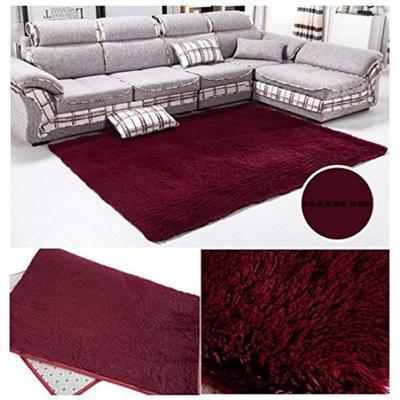 Fiber House Living Room Bedroom Carpet Anti-Skid Shaggy Area Rug Floor Mat