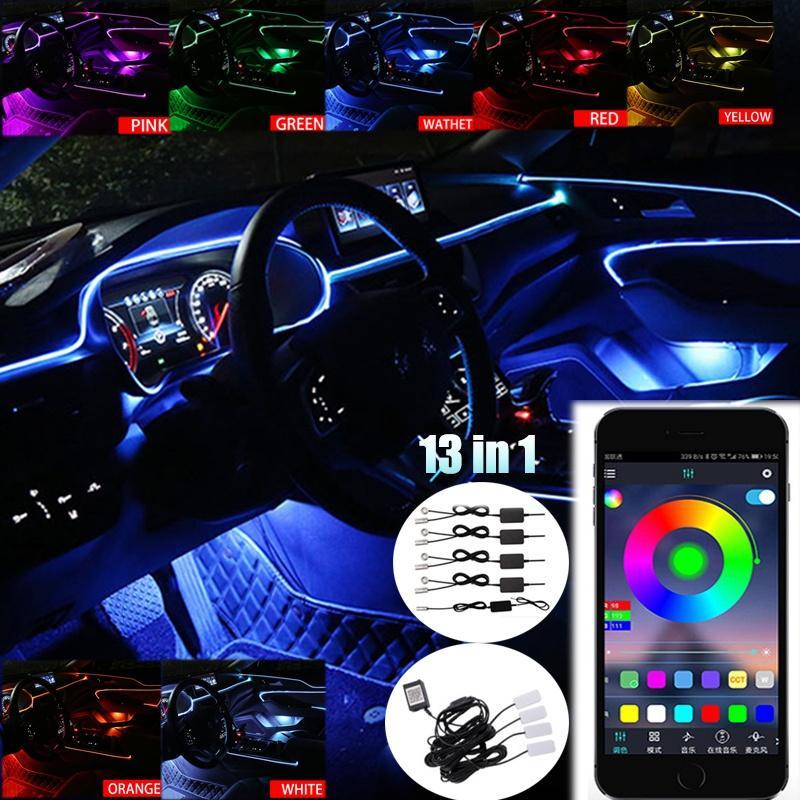 New Sound Control Colorful Mini Car USB LED Lights Car Atmosphere Light Useful