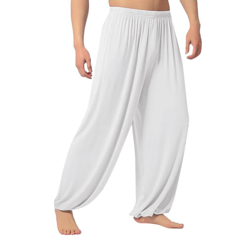 Men Sweatpants Long Fashion Casual Loose Sport Comfort Solid Dancing Yoga Pants Trousers Slacks