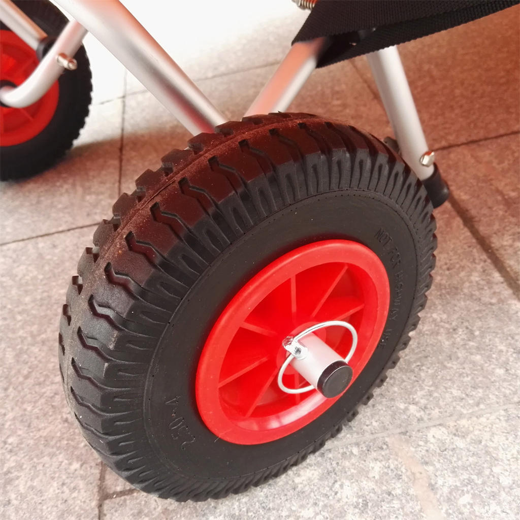 2 Pcs Tire Wheels Kayak Trolley Cart Boat Trailer Durable Puncture Proof Rubber