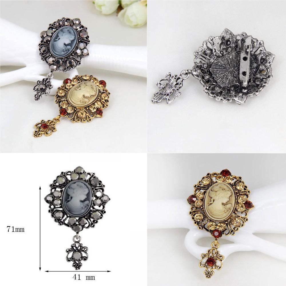 4562ac0f90d8 Para joyas regalo mujeres antiguo Vintage colgante Pin broche ...