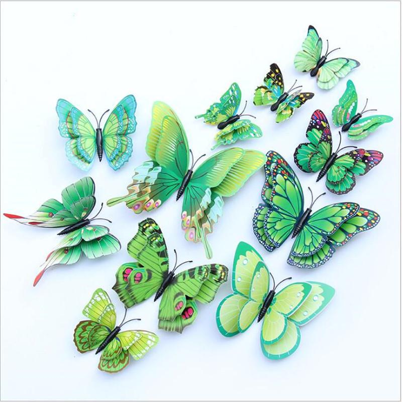 12 Pcs// Set Butterfly Decals wall sticker Kids Room Bedroom Home Decoration