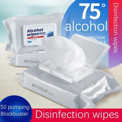 50pcs Disposable Wipes,75/% Alcohol Cleaning Wet Wipes 5 Packs=50pcs Portable Wet Wipe for Pet Hand Travel Home Office School Multifunctional Cleaning Easy to Carry