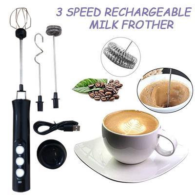 Handheld Electric Milk Frother Foamer Household Eggs Cream Mixer Drink Mixer Foam Maker Coffee Mixer Usb Charging Kitchen Tools