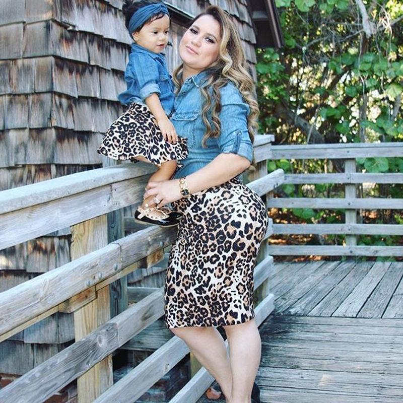 Frauen Mutter Tochter partnerlook Outfits Tops Kleid Summer Girl